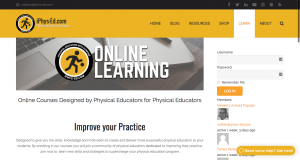 iPhys Ed.com home page
