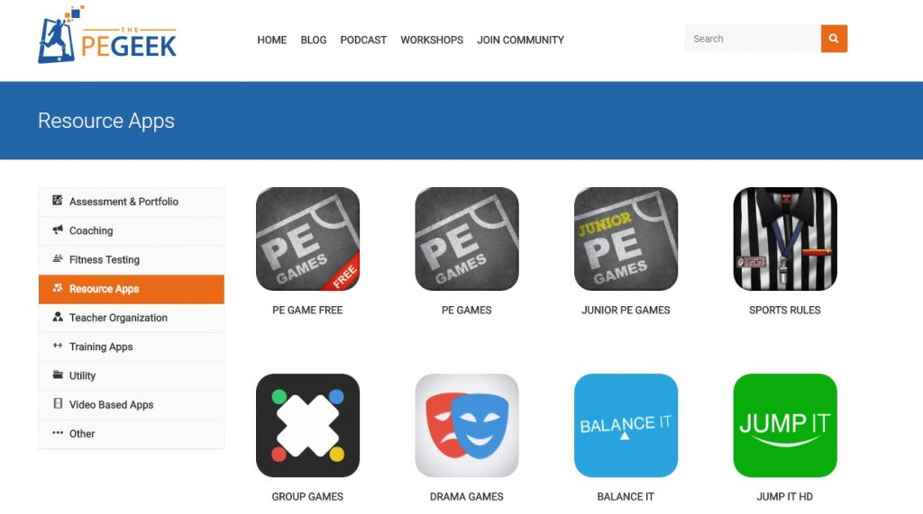 The PE Geek apps